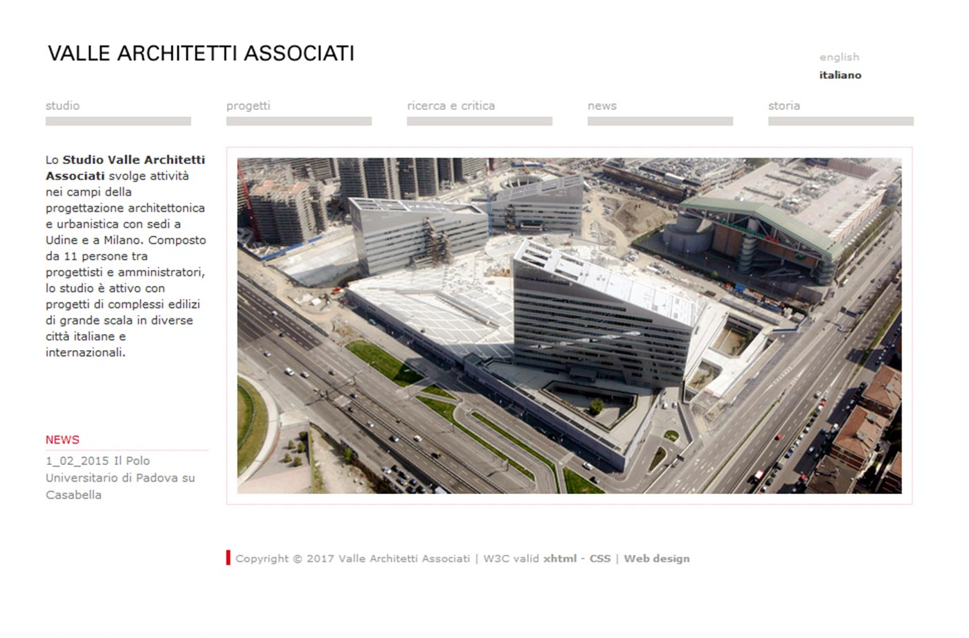 Valle Architetti Associati website