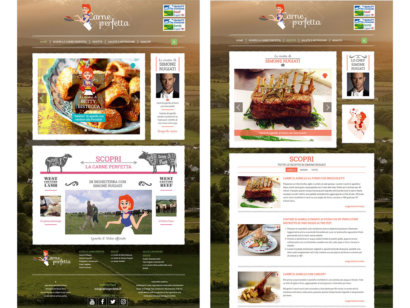 Carne Perfetta website