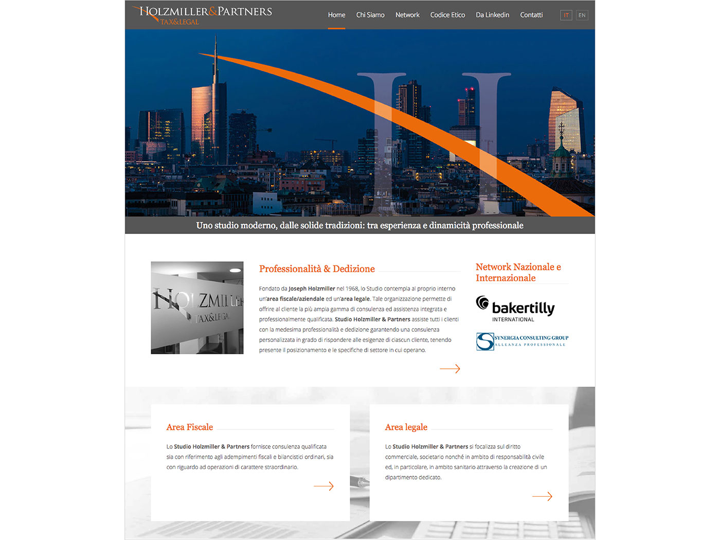 Studio Holzmiller & Partners website