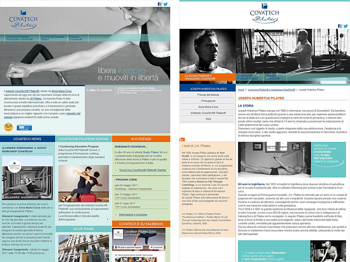 Studio Pilates website
